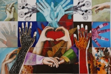 hands-isabel-perez-mixed-media-on-canvas-and-board